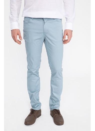 DeFacto Bruno Slim Fit Chino Pantolon Mavi